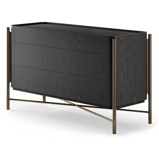 Italian Black Ash Luxury Chest of Draws | Touched Interiors