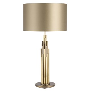 Ithaca Burnished & Brushed Brass Table Lamp | Touched Interiors