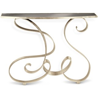Silver Champagne Juncosa Console Table | Touched Interiors