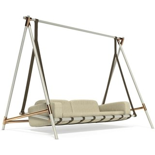 Legend Lacquered Aluminium And Copper Outdoor Swing