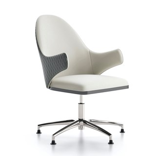 Italian Quilted Lima Office Armchair | Touched Interiors