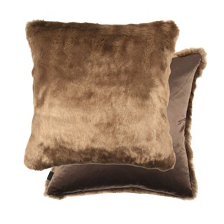 Luxury Feather Padded Cougar Fur Cushion