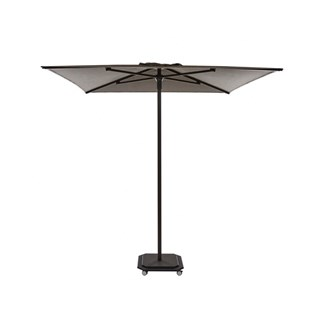 Luxury Square Parasol with Mobile Base | Touched Interiors