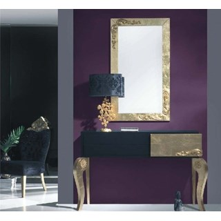 Luxus Gold Leaf Mirror with Gold Leaf Carvings