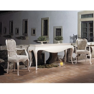 Cream elegant French dining armchair
