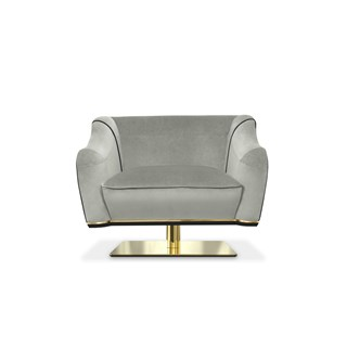 MacAlister Luxury Swivel Chair with Diamond Stitching | Touched Interiors