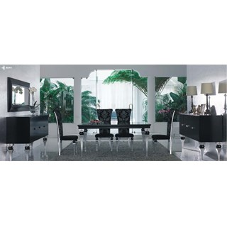 Magnus French Black And Silver Leaf Dining Room Set Collection