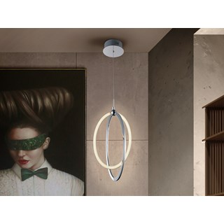 Polished Chrome Maja Pendant Light | Touched Interiors