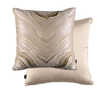 Marbleous Caramel Luxury Feather Padded Cushion