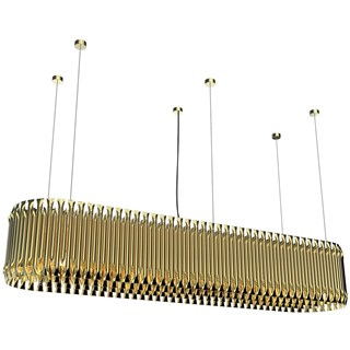 Marquis Gold Plated Brass Rectangular Suspension Light