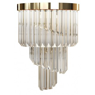 Luxury Medici Brass Wall Lamp | Touched Interiors