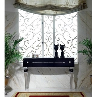 Magnus Black And Silver Leaf Console Table