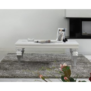 Magnus White And Silver Leaf Coffee Table