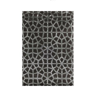 Mosaic Grey & Silver Luxury Rug