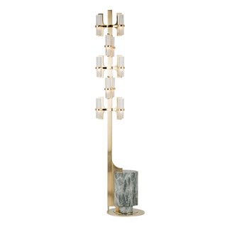 Naxos Satin Crystal Floor Lamp | Touched Interiors