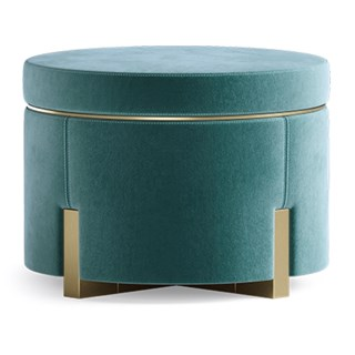 Ombra Stool with Brushed Brass Trim | Touched Interiors
