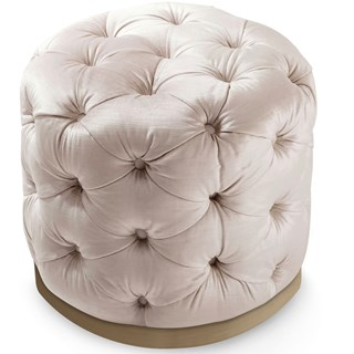 Ottilie Deep Buttoned Round Pouf | Touched Interiors