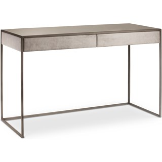Oxana Modern Brushed Bronze Desk | Touched Interiors