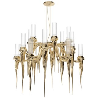 Phantom Gold Plated Luxury Chandelier | Touched Interiors