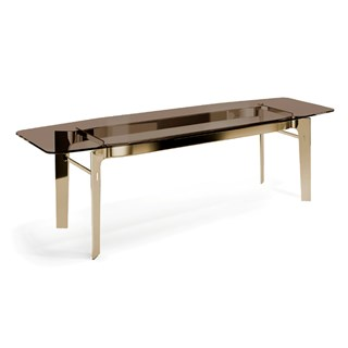 Gold Polished Brass Pietro Dining Table | Touched Interiors
