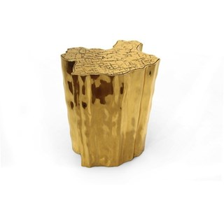 Polished Cast Brass Gold Plated Gold Side Table