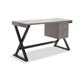 Serena High Gloss Taupe Desk   Touched Interiors