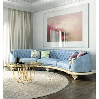 Prestige Curve Upholstered Lacquered Sofa