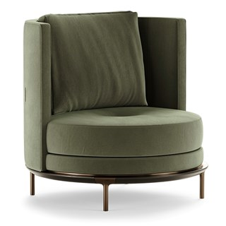 Proserpina Armchair With Round Backrest | Touched Interiors