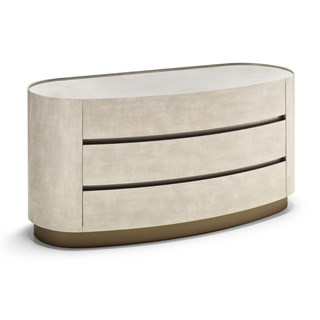 Raffinato Chest of Drawers with Bronzed Smoked Glass Top