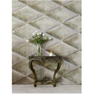 Luxury diamond shaped velvet wall panel