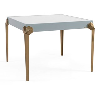 Rennes Lacquered Patina Leafed Side Table