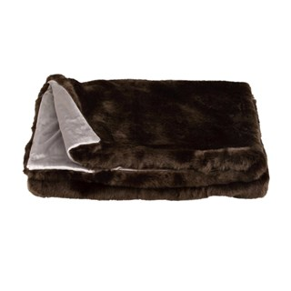 Rich Chocolate Luxury Fur Throw