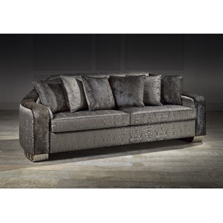 Ringo 3 Seater Upholstered Fabric Sofa With 6 Cushions