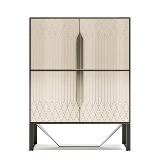 Italian Rocco Cabinet With Metal Detailing | Touched Interiors