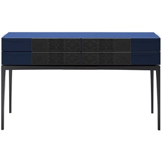 Sapphire Ironwood Leaf & High Gloss Console Table