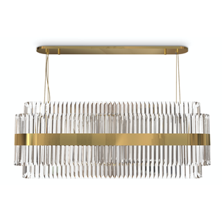 Murillo Brass & Crystal Suspension Light | Touched Interiors