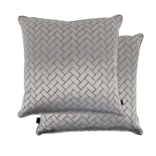 Silky Herringbone Feather Padded Cushion