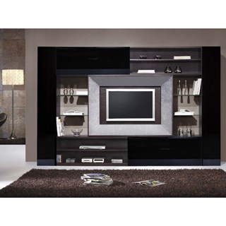 Black Gloss, Wenge and Silver Leaf LCD TV Frame Unit