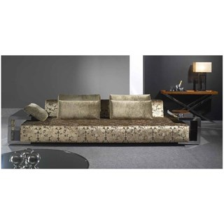 Sool Dreams Upholstered Sofa With Stainless Steel Frame
