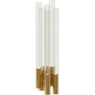Spire Gold Plated Brass & Crystal Wall Light