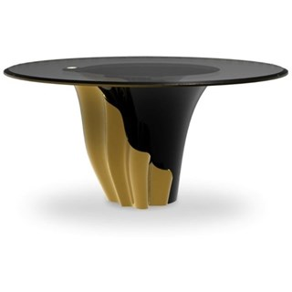 Superior Gold and Black Round Table