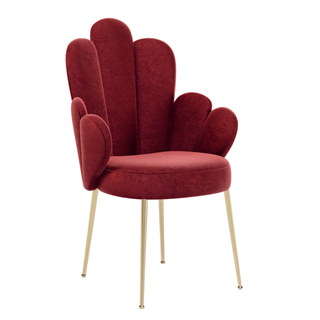 Sylvia Scalloped Dining Chair with Full Arm