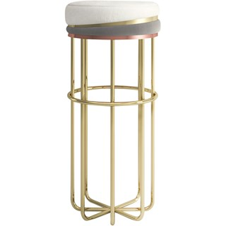 Polished Brass Thalia Bar Stool | Touched Interiors