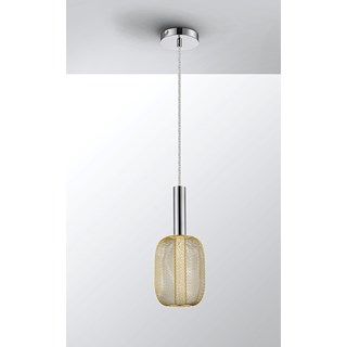 Gold Metal Mesh Tiziano Pendant Light | Touched Interiors