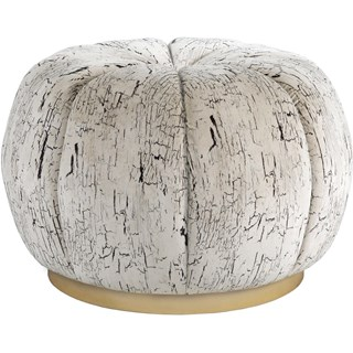 Torcello Upholstered Stainless Steel Pouf Medium