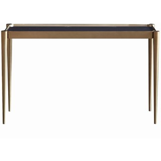 Touched D Brass & Gold Marble Top Console Table
