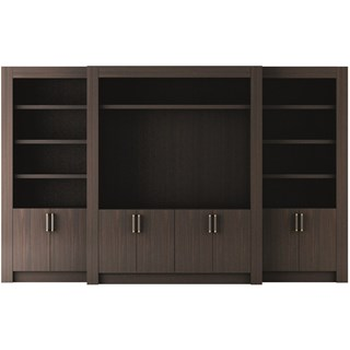 Touched D Canaletto Walnut With Glass Doors Media Cabinet