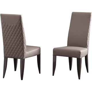 Touched D Diamond Upholstered Leather Dining Chair