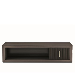 Touched D Sorrento Gloss Canaletto & Leather Bench