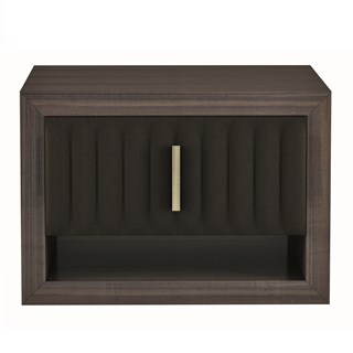 Touched D Sorrento Gloss Canaletto & Leather Nightstand